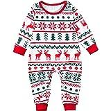 0-2 Años,SO-buts Pijamas Familiares Navideños para Bebés Niños Niñas Ropa De Dormir Mono Ropa De Invierno Mameluco