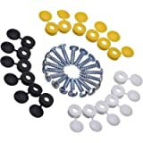 18 Pieces Caps and Screws Car License Plate Fixing Fitting Kit, 3 Assorted Colors
