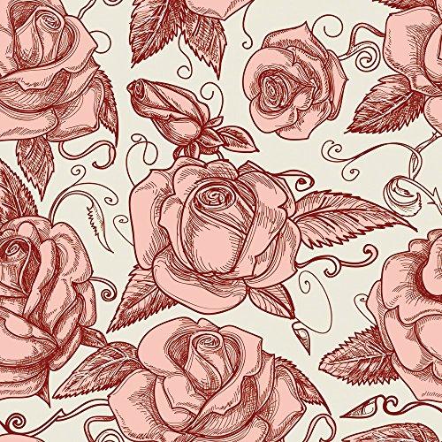 Apple iPhone 5s Housse Étui Protection Coque Roses Roses Roses Étui en cuir gris