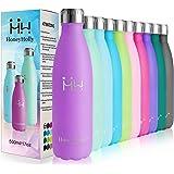 HoneyHolly Botella de Agua Acero Inoxidable 350ml, Aislamiento de Vacío de Doble Pared, Botellas de Frío/Caliente, sin BPA Bo