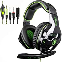 [2018 SADES SA810 New Xbox one mic PS4 Gaming Headset ]3.5 mm Wired Over Ear Xbox one Headset With Microphone Deep Bass Noise Cancelling Gaming Headphones For PS4 New Xbox one PC Laptop Mac iPad