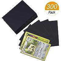 Homgaty Lot de 300 pochettes de protection transparentes pour cartes Pokémon, Magic : The Gathering, jeux de société, Yu…