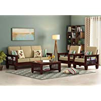 RK WOOD Sofa Set 5 Seater Home Office Furniture Living Room | Wooden Sofa Set 3+1+1 | Drawing Hall Sofa Set 5 Seater…