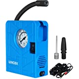 Automaze 12V Portable Mini Air Pump Compressor Tyre Tire Inflator for Car, Bike, Bicycle, Motorcycles, Balls, with LED…