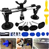 Manelord Auto Body Repair kit, Car Dent Puller with Double Pole Bridge Dent Puller, Glue Puller Tabs, Glue Shovel for…