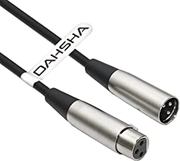 DAHSHA XLR Microphone Audio Male to Female Extension Cable for Mixer Stereo, Camera,Amplifier, 6ft (XLR 3 Pin Cable)