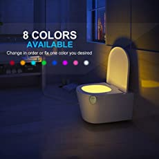 24x7 eMall Universal Motion-Activated LED GO-and-Glow 8 Colour Options and Colour-Rotate Mode Toilet Bowl Light (Multicolour)