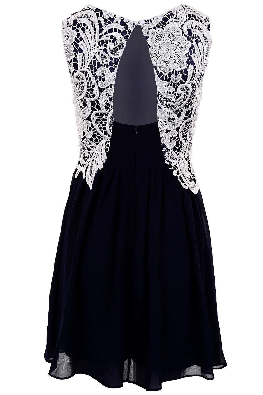Ladies Diamante Strap Pleated Padded Lace Chiffon Long Maxi Women/'s Dress 8-14
