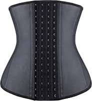 YIANNA Women's 4-Hooks Latex Waist Trainer/Cincher/Corsets Body Shaper Underbust Sports Girdle