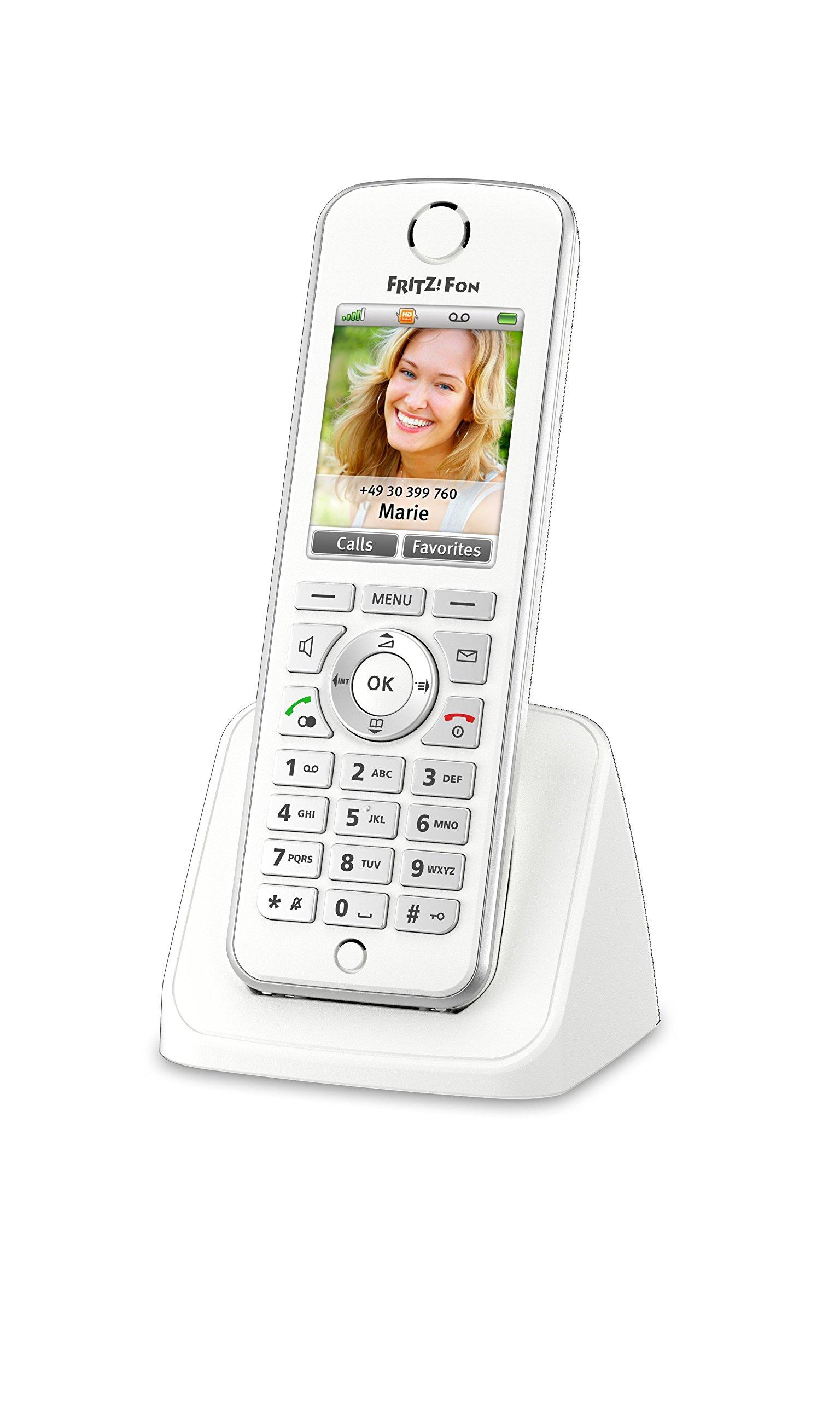 AVM FRITZ! Fon C4 Telefono Cordless a Colori, Invio e Ricezione Mail, Podcast, Webradio, Babyphone,