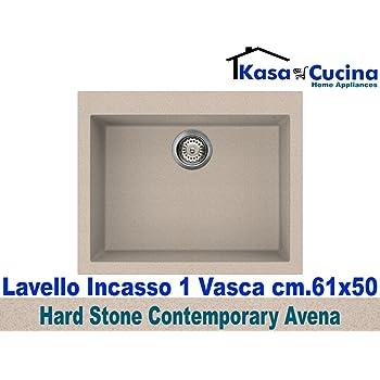 lavello incasso cucina hard stone contemporary fragranite 1 vascavascone cm61x50 avena