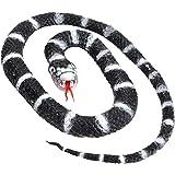 Wild Republic 93002 Serpiente Calif King Rubber Snake, Zwart, 66 cm