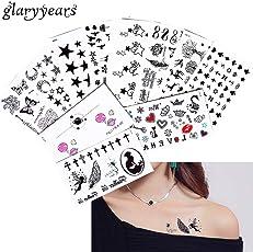 2018 New 5 Sheet Heart Infinity Gift Tattoo Temporary Waterproof Body Henna Hand Neck Ear Art Tattoo Sticker for Women Men Party