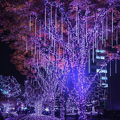 LED-Meteor-Shower-LightsSUAVER-Waterproof-Solar-Raindrop-Lights-Garden-Decorative-String-Lights-with-30cm-10-Tubes-360LEDsCascading-lights-for-Party-Wedding-Christmas-Tree-Patio-Decoration