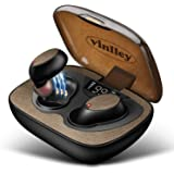 Auricolari Bluetooth Senza Fili con Bluetooth 5.0 Noise Cancelling, Cuffie Wireless con Custodia a Ricarica Rapida 60 Ore Cuf