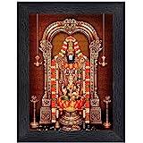 Tirupati Balaji - Lord Venkateswara Religious Wood Photo Frames(photoframe,Multicolour,8x6inch)-22583
