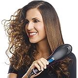 SUNRays Hair Straightener Ceramic Hair Straightening Brush with LCD Screen,Temperature Control Display Comb Hair…