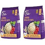 Oateo Rolled Oats 2 Kg (1 Kg x 2) - Jumbo Whole Grain Oats