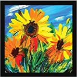 ArtX Paper Sunflower Wall Art, Multicolor, Floral, 13X13 in, Set of 1
