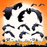 Halloween decoratie 10 stuks Halloween vleermuis decoraties helHalloween party accessoires Halloween hangende vleermuis 3D vl