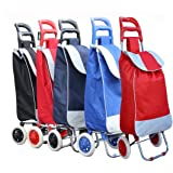 PAffy Foldable Shopping Trolley Bag (Random Color - Red/Black/Blue)