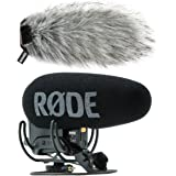 Rode Videomic Pro Plus Kamera-Mikrofon + KEEPDRUM Fell-Windschutz WS03