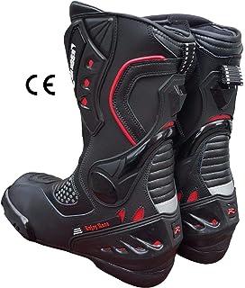 chaussures de moto respirantes pour conduite sur route 42 Noir imperm/éables Biesse Bottes de moto en cuir