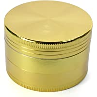 LIHAO  Grinder Garanzia a Vita  2 rdquo  50mm  Spezie Erbe Grinder in 4 Pezzi Tritino in Metallo   d  39 oro