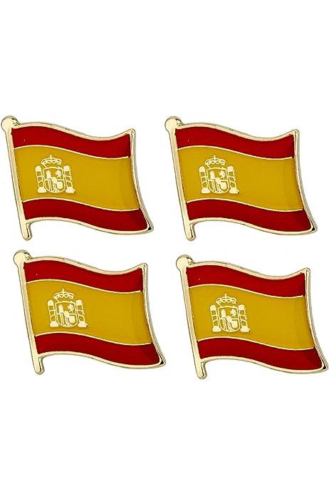 Pin de Solapa Bandera España Mastil: Amazon.es: Ropa y accesorios