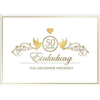 Einladungskarten Goldene Hochzeit 20 Sets Hinreissend Fein