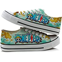 Telacos One Piece Anime Cosplay Shoes Canvas Shoes Sneakers Colorful Low Cut 4