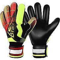 Goalie Gloves for Youth & Adult, Goalkeeper Gloves Kids with Finger Support, Black Latex Soccer Gloves for Men and Women…