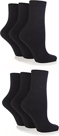 Ladies 6 Pair Pringle Tiffany Plain Trouser Socks