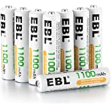 EBL 8 Piles AAA 1100 mAh Pile Rechargeable 1.2V Ni-MH Plus de 1200 Cycles