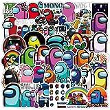 Lanseede 50 Pegatinas de Among Us Sticker Graffiti Stickers con Dibujos Animados para monopatín, Guitarra, portátil, Botella