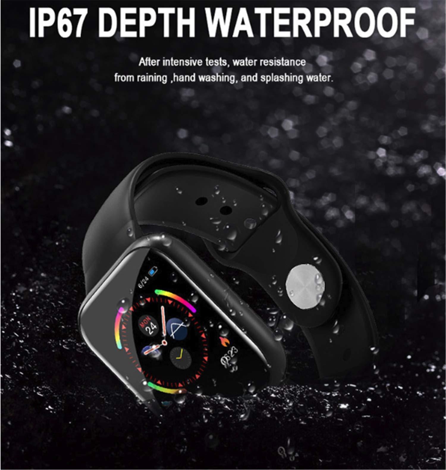 linyingdian Smartwatch, Reloj Inteligente Impermeable IP67 Pulsera de Actividad Inteligente con Monitor de Sueño Pulsómetros Podómetro Contador de Caloría, para Hombre Mujer niños 5