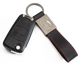 Kaser Schlüssel Gehäuse Fernbedienung Für Opel 2 Tasten Autoschlüssel Funkschlüssel Vectra Astra Tigra Corsa Mit Leder