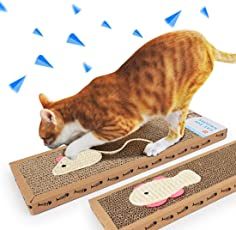 Kitten Scratching Post Cat Scratcher Handmade Interactive Toys for Cat Training Pet Cat Toys (Set of 2)