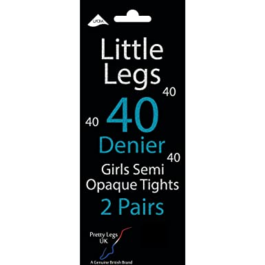 46e974a9439ee Girl's Little Legs 40 Denier Semi Opaque Tights (2 Pair Pack): Amazon.co.uk:  Clothing