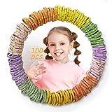 Kavya® Haarelastiekjes voor meisjes, 100 stuks, elastische kleine elastiekjes meerkleurig, paardenstaarthouders voor baby's,