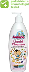 Adore Anti-Bacterial Liquid Cleanser of Baby Bottles, Nipple,Accessories,Toys,Fruits and Vegetables | Baby Bottle Cleaning Liquid (400 ml)