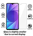 JGD PRODUCTS 2.5D Tempered Glass Screen Protector For Samsung Galaxy M10 Full Screen Coverage With Easy Installation Kit