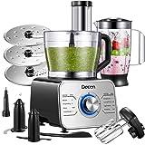 Decen Robot Multifonction 1100W, 11 en 1 Robot de Cuisine Multifonctions, Robot Pâtissier, Robot Menager Cuisine Hachoir Elec