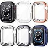 LORDSON [6 Piezas] Funda Compatible con Apple Watch Series SE /6/5/4 44 mm Estuche Protector , TPU Pantalla Cubierta de Prote