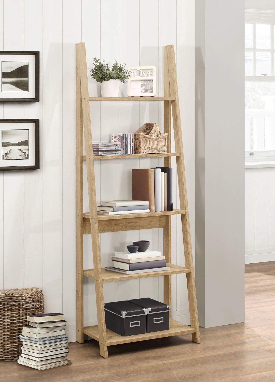 71ungU%2B7hWL - Birlea, Dayton, Ladder Bookcase, Wood, Oak, One Size