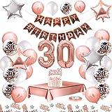 MMTX Palloncini Compleanno 30 Anni Oro Rosa Compleanno Decorazioni per Feste Donna Addobbi Compleanno Bomboniere 30 Anni Raga