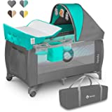 Lionelo Sven Plus 2en1 Cuna de viaje y parque de bebés 125 x 65 x 77 cm 0-36M Para niños hasta 15 kg Función de cambiador Mos