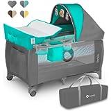 Lionelo Sven Plus 2 in 1 box bambini lettino bambino fasciatoio giocattoli pendenti baldacchino con zanzariera ingresso…