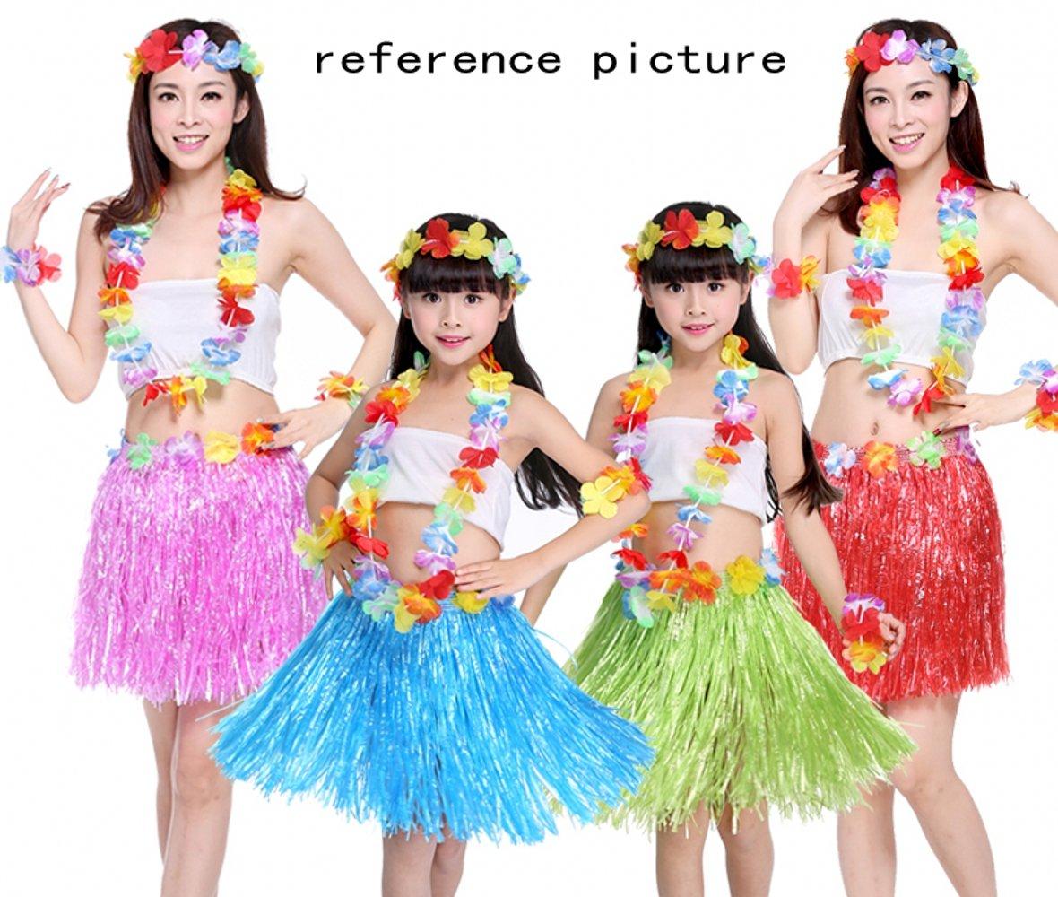 JZK Falda Luau Hawaiana para niñas Mujer Fiesta Hawaiana Luau Accesorio Fiesta Hawaii