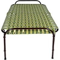 STMMZ® India Portable Single Folding Bed Heavy Duty Foldable Bed Frame Khat Cot, Sturdy Metal Bed Frame Space Saving…